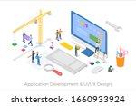 isometric application... | Shutterstock .eps vector #1660933924