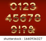 golden numbers. gold 3d figures ... | Shutterstock .eps vector #1660936327