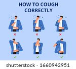 poster how to cough correctly.... | Shutterstock .eps vector #1660942951