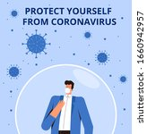 coronavirus protection poster... | Shutterstock .eps vector #1660942957