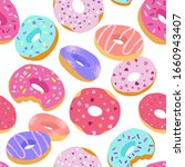 tasty colorful donuts with... | Shutterstock .eps vector #1660943407