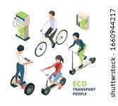 Eco Transport People. 3d...