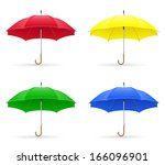 colors umbrellas illustration... | Shutterstock . vector #166096901