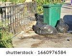 Black  Bag Trashcan At Bangkok...