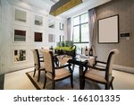 modern dining room with nice... | Shutterstock . vector #166101335