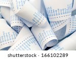 the stripes of a calculator.... | Shutterstock . vector #166102289