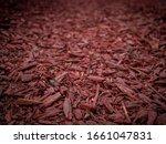 Wooden Texture. Dark Red Chips