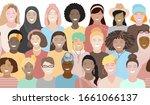 seamless border pattern of... | Shutterstock .eps vector #1661066137