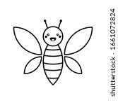 cute baby bee in cartoon style. ...   Shutterstock .eps vector #1661072824