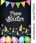 ester greeting card. sketch of... | Shutterstock .eps vector #1661079694