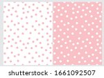 abstract hand drawn dotted... | Shutterstock .eps vector #1661092507