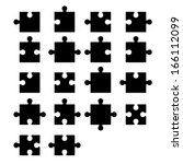 jigsaw puzzle blank parts...