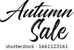 autumn sale typographic black... | Shutterstock .eps vector #1661123161