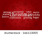 christmas greeting card  ... | Shutterstock .eps vector #166113005
