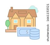 property value icon. simple...