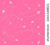 travel aircraft seamless... | Shutterstock .eps vector #1661168821