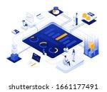 modern flat design isometric... | Shutterstock .eps vector #1661177491