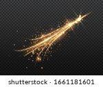 transparent golden glow light... | Shutterstock .eps vector #1661181601