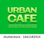 vector green logo urban cafe.... | Shutterstock .eps vector #1661183314