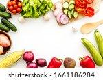 autumn harvest. vegetables  ... | Shutterstock . vector #1661186284