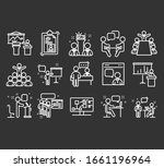 business presentation outlined... | Shutterstock .eps vector #1661196964