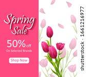 beautiful fresh flower on...   Shutterstock .eps vector #1661216977