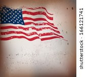 usa flag grunge old textured... | Shutterstock .eps vector #166121741