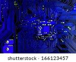 circuit board background  | Shutterstock . vector #166123457