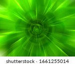 Abstract Green Zoom Effect...