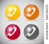 shine glossy computer icon ... | Shutterstock . vector #166126151