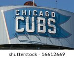 Chicago Cubs Sign At Wrigley...