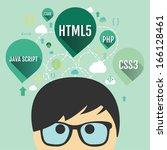 web programming concept | Shutterstock .eps vector #166128461