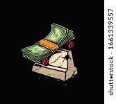 money board with lipslide trick ... | Shutterstock .eps vector #1661339557