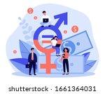 employees gender salary...   Shutterstock .eps vector #1661364031