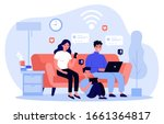 family suffering from social... | Shutterstock .eps vector #1661364817
