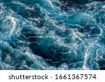 Stormy Ocean Waves Backlit By...