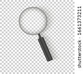 realistic magnifying glass... | Shutterstock .eps vector #1661373211