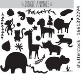 Animal Jungle  Black Silhouett...