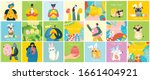 vector easter cards with people ... | Shutterstock .eps vector #1661404921
