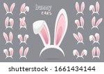 easter rabbit ears stickers...   Shutterstock .eps vector #1661434144