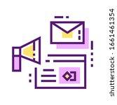 brand marketing color line icon....