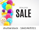 abstract party sale background. ... | Shutterstock . vector #1661465311