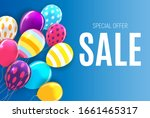 abstract party sale background. ... | Shutterstock . vector #1661465317