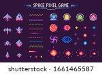space pixel game raster ... | Shutterstock . vector #1661465587