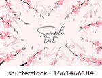 vector illustration sakura... | Shutterstock .eps vector #1661466184