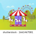 carousel with horses raster ... | Shutterstock . vector #1661467081