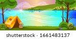 horizontal forest landscape... | Shutterstock .eps vector #1661483137