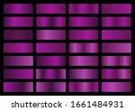 vector set of purple metallic... | Shutterstock .eps vector #1661484931