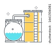 storage tank related color line ... | Shutterstock .eps vector #1661506081