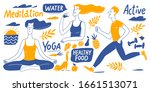wide size healthy life style... | Shutterstock .eps vector #1661513071